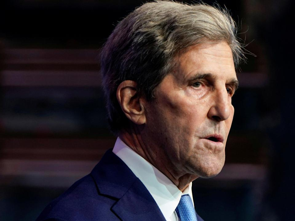 President Biden's international climate envoy John Kerry called on the world to get serious about the climate crisis at the virtual World Economic Forum on Wednesday (REUTERS)