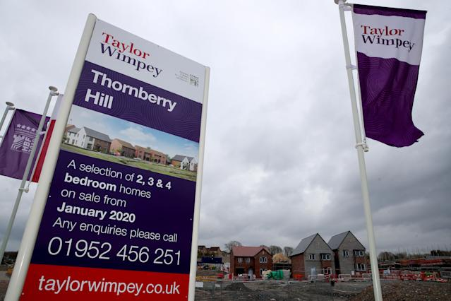A Taylor Wimpey site as many sites see construction resume. (PA)