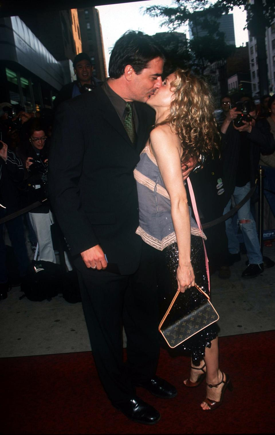 05/30/00 New York City  HBO's 'Sex And The City' kicks-off a new season with a star-studded screening and party.  'Sex...' co-stars Chris Noth and Sarah Jessica Parker, share a real life kiss.    Photo by Evan Agostini/ImageDirect