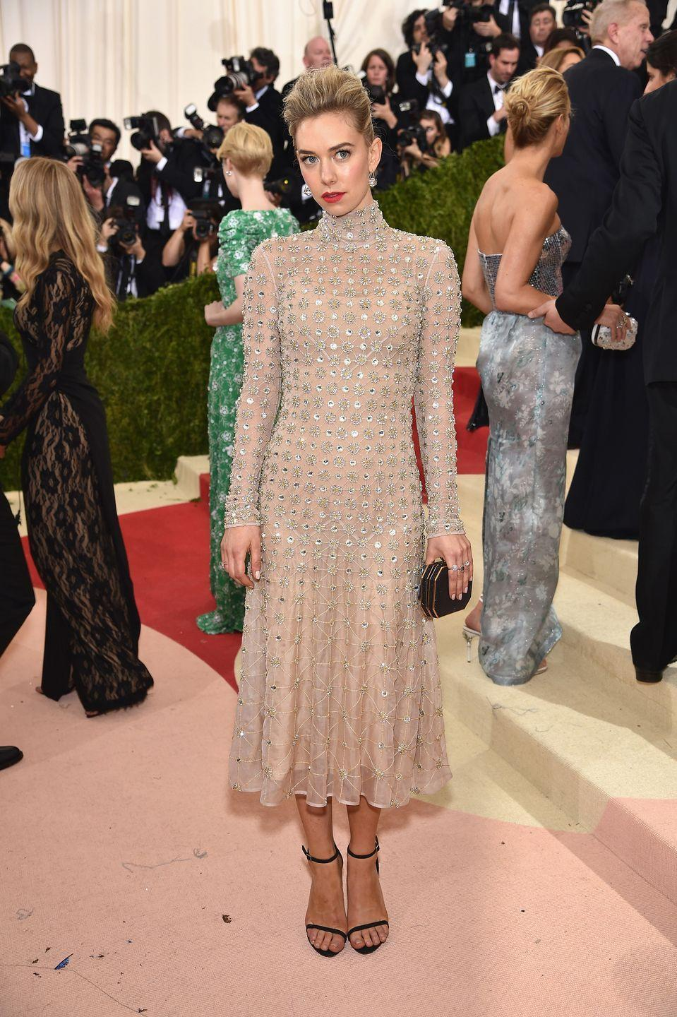 <p>In a dress by Temperley London at the Manus x Machina event at The Met.</p>