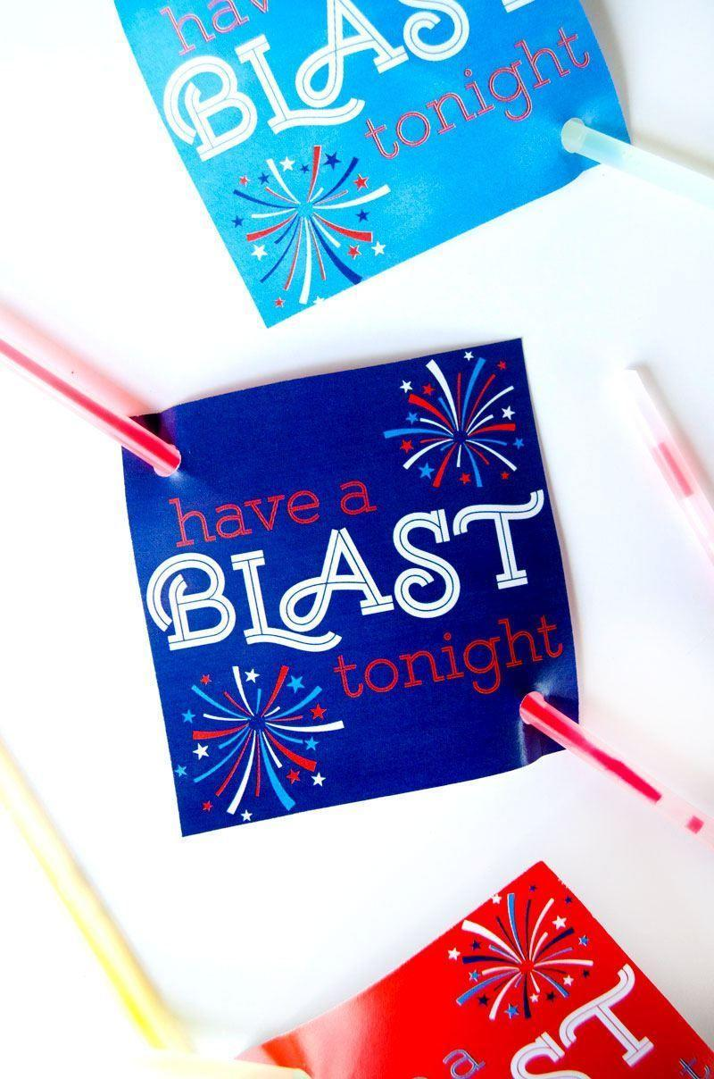 """<p>For something the kids will love, slip glow sticks through the cutouts on this free printable. Or, for something more suitable for adults, use the printable as labels for a small package of firework cookies. </p><p><a class=""""link rapid-noclick-resp"""" href=""""https://love-the-day.com/fourth-july-ideas-kids"""" rel=""""nofollow noopener"""" target=""""_blank"""" data-ylk=""""slk:GET THE PRINTABLE"""">GET THE PRINTABLE</a></p><p><a class=""""link rapid-noclick-resp"""" href=""""https://www.amazon.com/Glow-Sticks-Bulk-Party-Supplies/dp/B07D4LLMGL/ref=sr_1_5?dchild=1&keywords=glow+sticks&qid=1591632667&sr=8-5&tag=syn-yahoo-20&ascsubtag=%5Bartid%7C10072.g.32715018%5Bsrc%7Cyahoo-us"""" rel=""""nofollow noopener"""" target=""""_blank"""" data-ylk=""""slk:SHOP GLOW STICKS"""">SHOP GLOW STICKS</a></p>"""