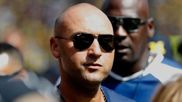 Instead of showing up to the MLB winter meetings in Orlando, Jeter was spotted in Miami enjoying Monday Night Football.
