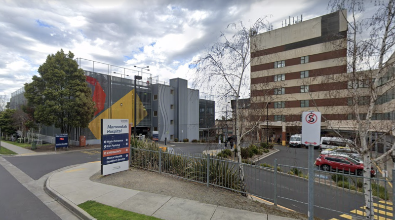 Pictured is Maroondah Hospital in Melbourne's eastern suburbs.