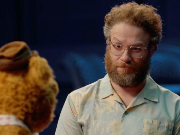 "Seth Rogen in ""Muppets Now."""