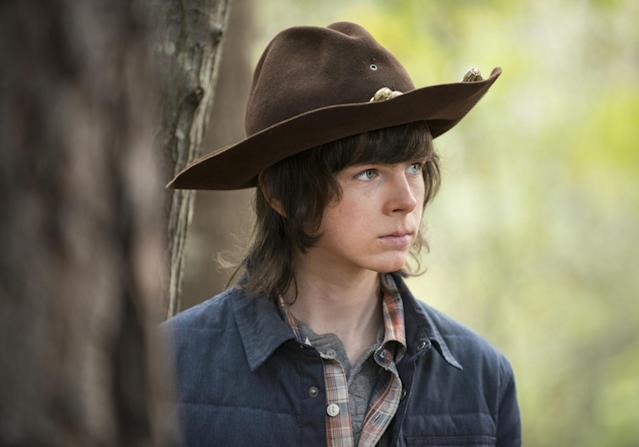 Chandler Riggs as Carl in 'The Walking Dead' (Photo: AMC)