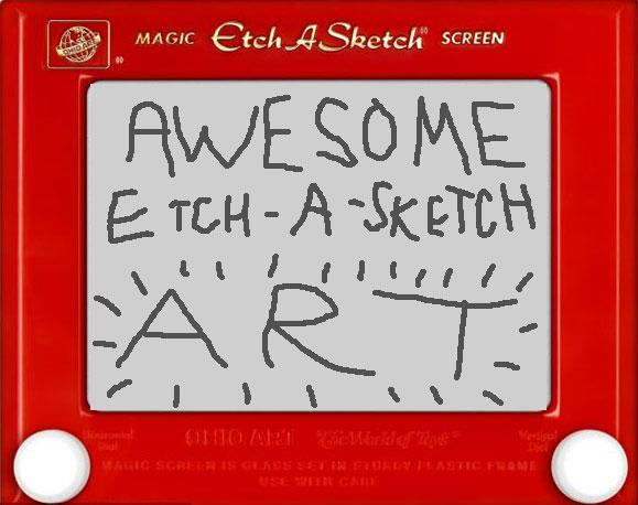 Awesome Etch-A-Sketch Art<br><br>(written by Mike Smith)<br><br>No childhood toybox is complete without an Etch-A-Sketch. Invented by French electrician André Cassagnes in the 1950s, popularized by the Ohio Art Company during the 60s, and esteemed as one of the western world's favorite toys ever since, it's a true classic.<br><br>It's not exactly the easiest of toys to use, however. Sure, it's not too hard to sketch out a few squares or a few crooked lines, but actually producing a piece of art? Forget about it.<br><br>Or so you might assume. Unlikely though it seems, there are a number of artists for whom the Etch-A-Sketch is their chosen canvas -- and they're unbelievably good. Check out some of their finest work.