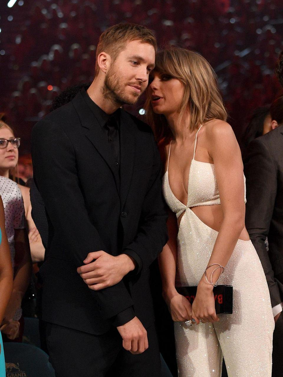 "<p><a href=""https://www.cosmopolitan.com/entertainment/celebs/news/a61295/taylor-swift-calvin-harris-breakup-timeline-tweets/"" rel=""nofollow noopener"" target=""_blank"" data-ylk=""slk:After 15 months of dating"" class=""link rapid-noclick-resp"">After 15 months of dating</a>, Tayvin called it quits and began a war over songwriting credits on ""This Is What You Came For."" <a href=""https://www.cosmopolitan.com/entertainment/celebs/news/a61291/calvin-harris-responds-taylor-swift-songwriting-twitter/"" rel=""nofollow noopener"" target=""_blank"" data-ylk=""slk:In response to Taylor's camp publicly confirming that she used the pseudonym Nils Sjoberg to write the song"" class=""link rapid-noclick-resp"">In response to Taylor's camp publicly confirming that she used the pseudonym Nils Sjoberg to write the song</a>, Calvin wrote (via a series of tweets that have since been deleted), ""Please focus on the positive aspects of YOUR life because you've earned a great one… I know you're off on tour and you need someone new to try and bury like Katy ETC but I'm not that guy, sorry. I won't allow it."" He also referenced Taylor's new relationship at the time with Tom Hiddleston: ""I figure if you're happy in your new relationship you should focus on that instead of trying to tear your ex bf down for something to do."" </p>"
