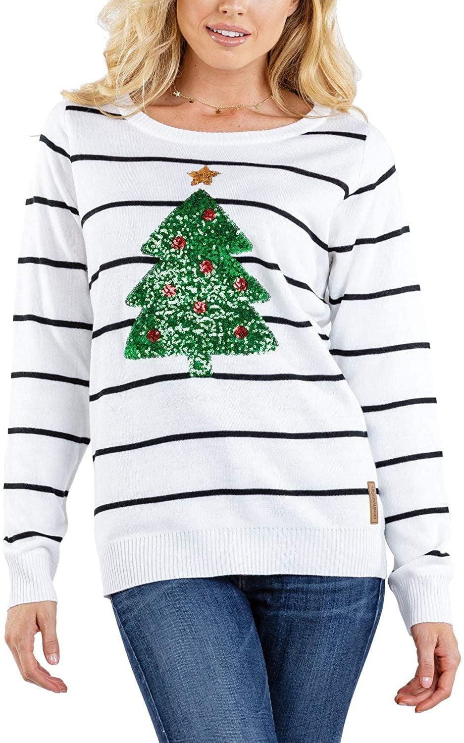 """<p>This <span>Sequin Christmas Tree Sweater</span> ($50) basically screams """"holiday cheer.""""</p>"""