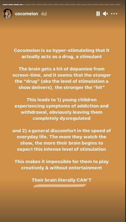 is Cocomelon bad for babies