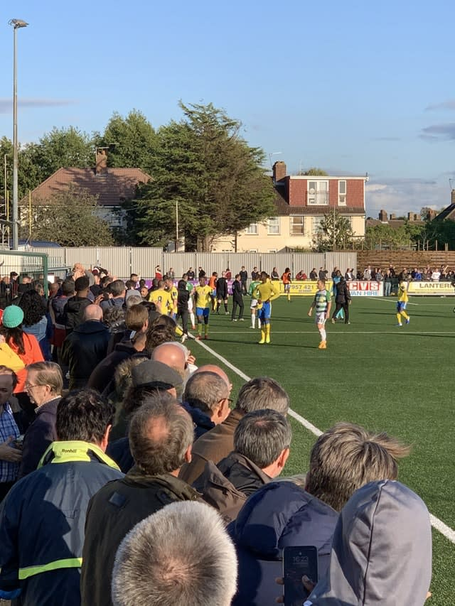 There was trouble at the FA Cup clash between Haringey and Yeovil (View From the Ninian handout)