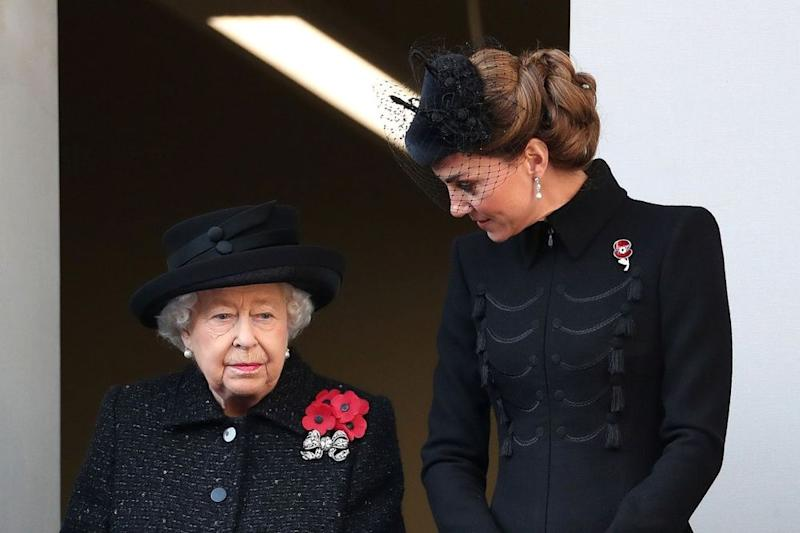 Queen Elizabeth and Kate Middleton | Chris Jackson/Getty Images