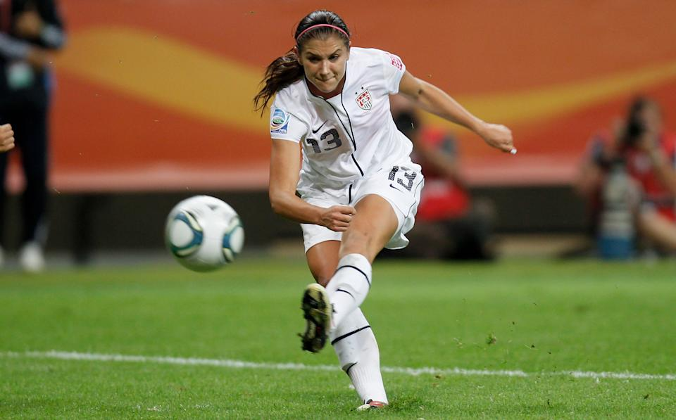 4. Alex Morgan was the youngest member of the 2011 World Cup team at 21 years old and the second-youngest member of the 2012 U.S. Olympic soccer team. (Getty Images)