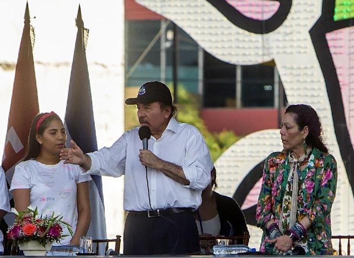 Ortega vowed to remain in office despite the escalating violence (AFP Photo/INTI OCON)