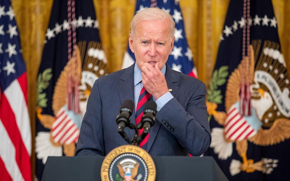 US President Joe Biden delivers remarks on the efforts to get more Americans vaccinated and the spread of the Delta variant, Washington, USA - Shutterstock