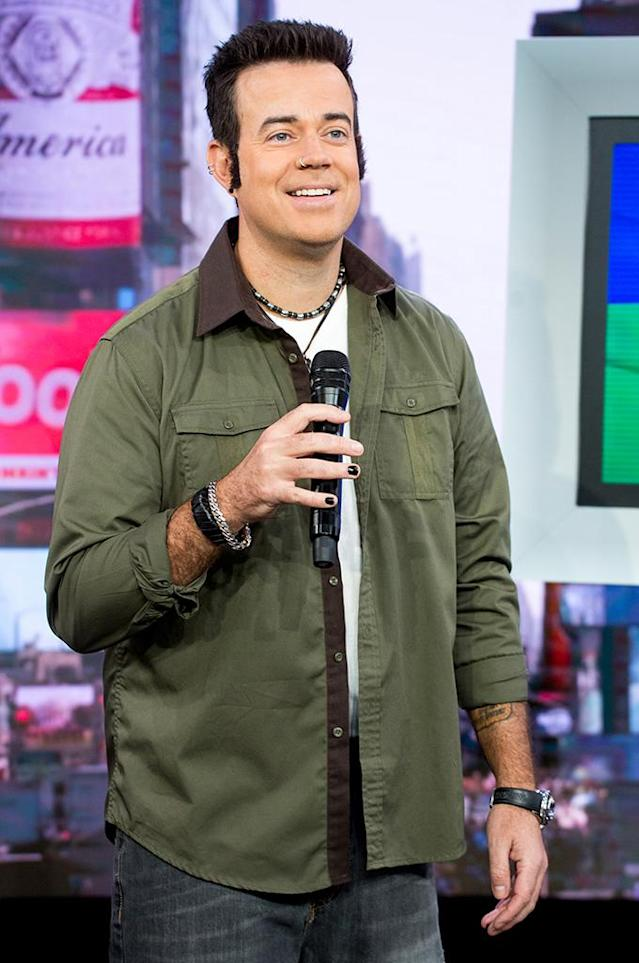 "<p>The <i>Today</i> show's trip back to the '90s wouldn't have been complete without a look at MTV's <i>TRL</i>, so it was lucky they had a 20-years-older Carson Daly to ham it up as his younger self as he ""counted down"" '90s memorable moments and tee'd up the rest of the hosts costume reveals. (Photo: Nate Congleton/NBC) </p>"