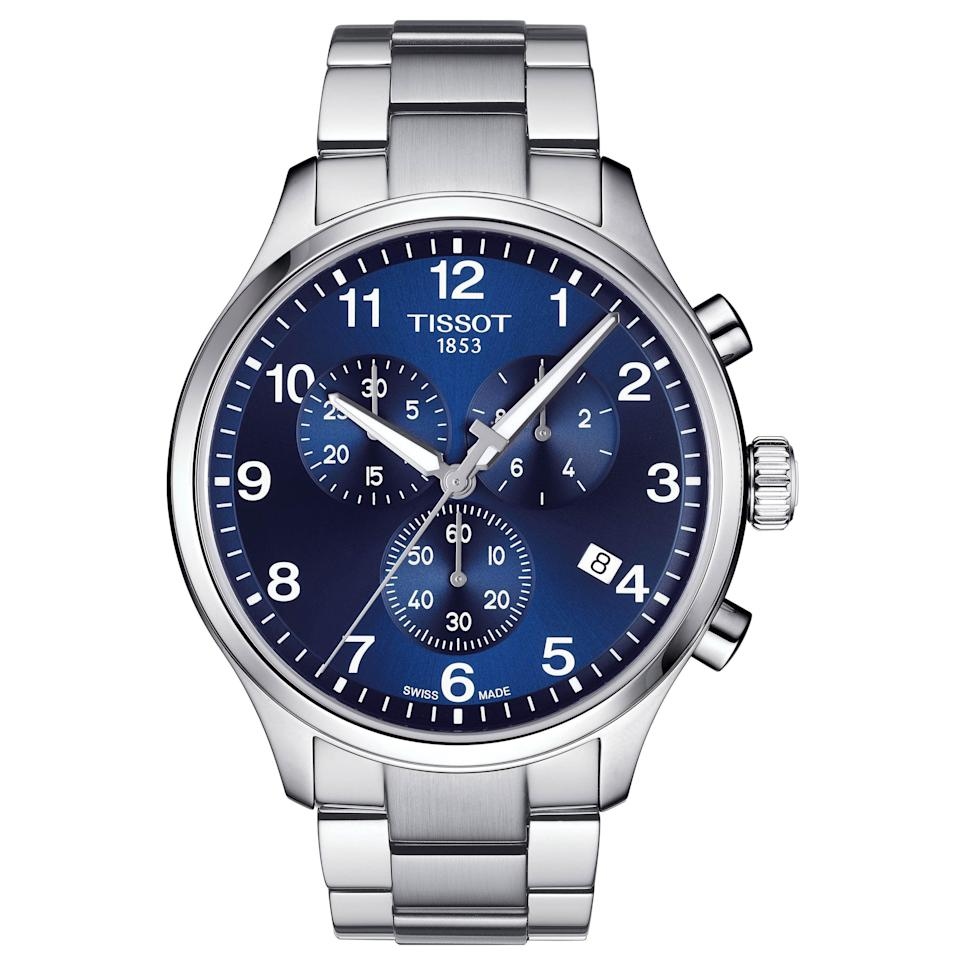 """<p><strong>Tissot</strong></p><p>nordstrom.com</p><p><a href=""""https://go.redirectingat.com?id=74968X1596630&url=https%3A%2F%2Fwww.nordstrom.com%2Fs%2Ftissot-chrono-xl-collection-chronograph-bracelet-watch-45mm%2F5730493&sref=https%3A%2F%2Fwww.esquire.com%2Fstyle%2Fmens-fashion%2Fg35967248%2Fnordstrom-mens-sale-march-2021%2F"""" rel=""""nofollow noopener"""" target=""""_blank"""" data-ylk=""""slk:Shop Now"""" class=""""link rapid-noclick-resp"""">Shop Now</a></p><p><strong><del>$395.00</del> $316.00 (20% off)</strong></p><p>Tissot watches are always an excellent value. At 20% off, it's just that much more bang for your buck.</p>"""