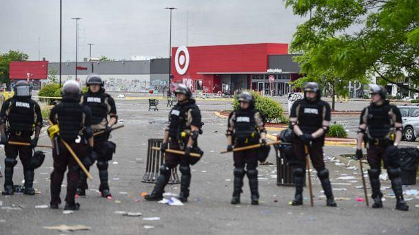PHOTO: Minnesota State Patrol deploy around a Target store that was a scene of looting following protests over the death of George Floyd, in Minneapolis, Minnesota, May 29, 2020. (Craig Lassig/EPA via Shutterstock)