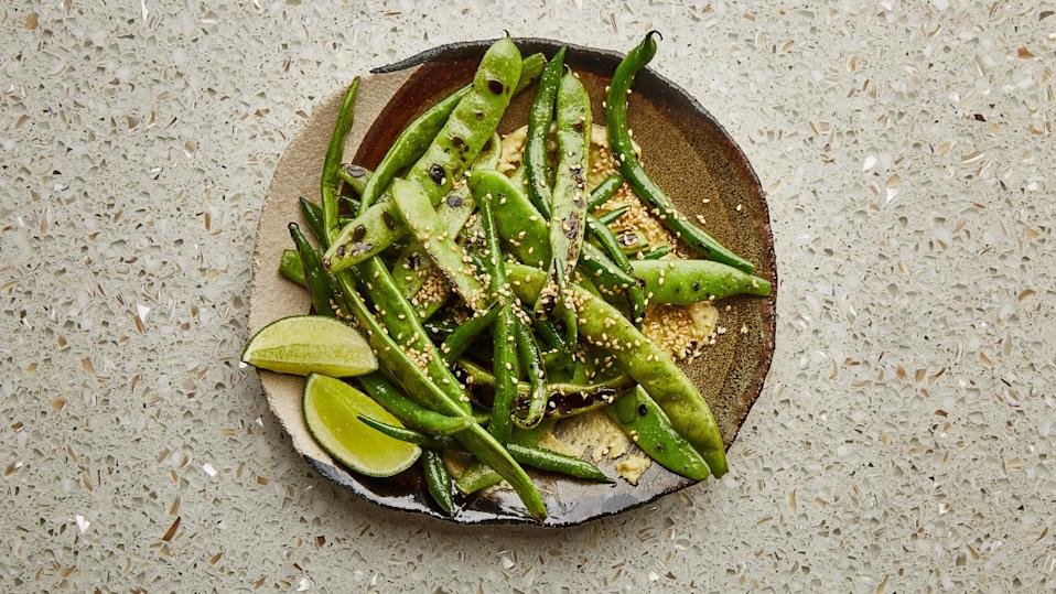 "If you don't feel like smoking up your kitchen by charring the beans on the stovetop, try grilling or just blanching them instead. This recipe is part of the Healthyish Farmers' Market Challenge. Get all 10 recipes <a href=""https://www.bonappetit.com/farmersmarketchallenge?mbid=synd_yahoo_rss"" rel=""nofollow noopener"" target=""_blank"" data-ylk=""slk:here"" class=""link rapid-noclick-resp"">here</a>. <a href=""https://www.bonappetit.com/recipe/summer-beans-with-miso-butter?mbid=synd_yahoo_rss"" rel=""nofollow noopener"" target=""_blank"" data-ylk=""slk:See recipe."" class=""link rapid-noclick-resp"">See recipe.</a>"