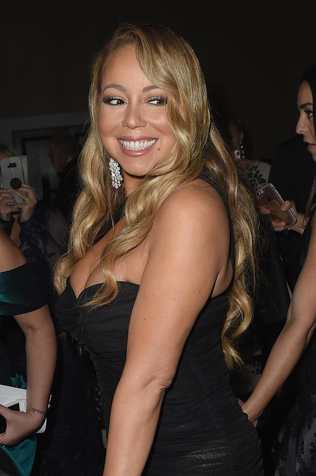 Mariah Carey attends the 75th Annual Golden Globe Awards on Jan. 7 in Beverly Hills. (Photo: Getty Images)