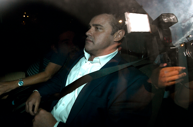 McCormack pictured leaving Redfern Police Station on Thursday night. Photo: AAP