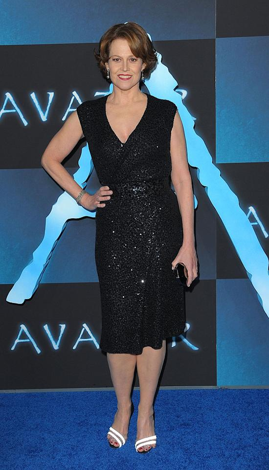 "<a href=""http://movies.yahoo.com/movie/contributor/1800015109"">Sigourney Weaver</a> at the Los Angeles premiere of <a href=""http://movies.yahoo.com/movie/1809804784/info"">Avatar</a> - 12/16/2009"
