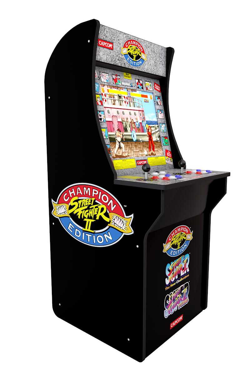 Bring the retro arcade home with Arcade1Up. (Photo: Walmart)