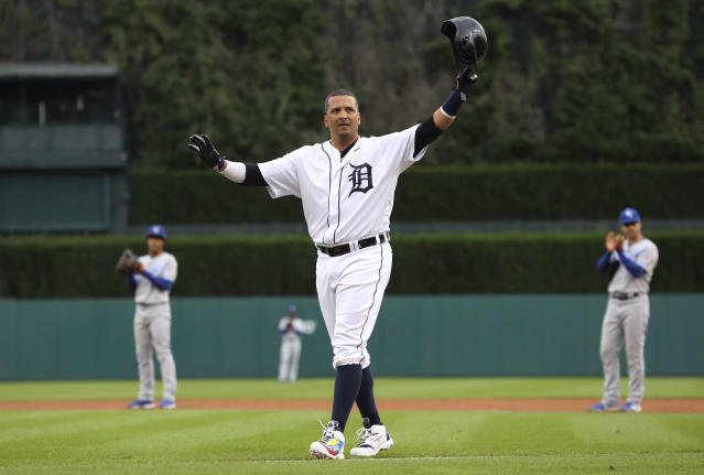 Victor Martinez ended his lengthy MLB career on a positive, albeit unlikely, note. (AP Photo)