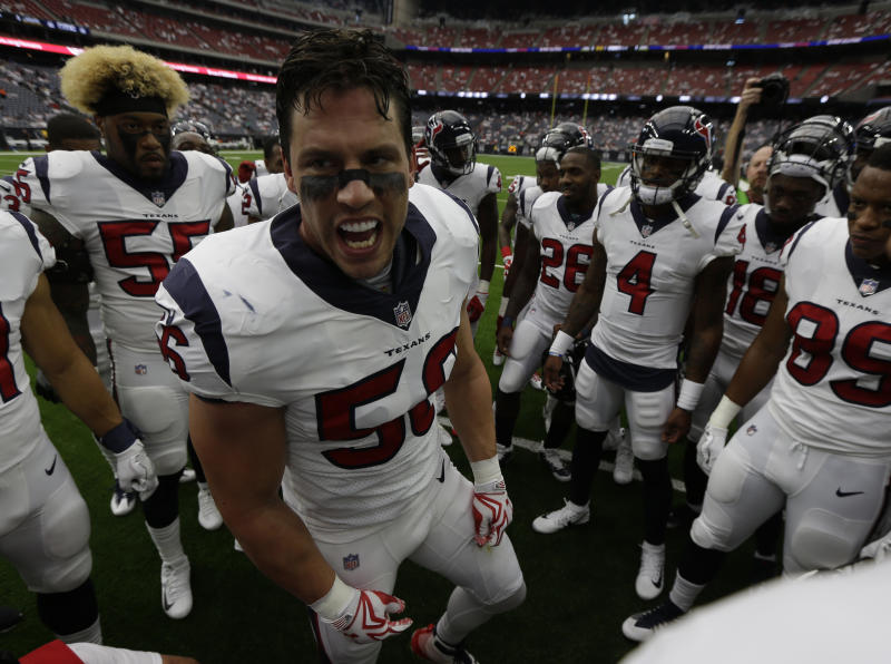 Texans' Brian Cushing Suspended 10 Games for Violating League's PED Policy