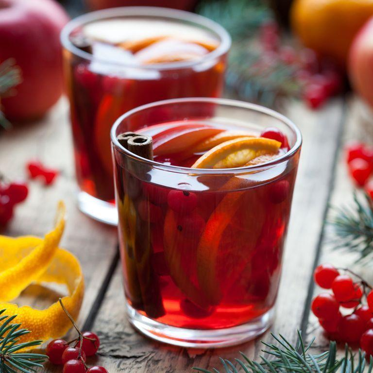 """<p>Skip the beer and wine this year and opt for a festive Christmas cocktail instead, or at least to get the party started. This delicious seasonal sangria includes a mix of cranberries, apples and red wine to create that Christmassy color. Sangria's not just for the back patio anymore. </p><p><em><a href=""""https://www.delish.com/cooking/recipe-ideas/recipes/a50192/cran-apple-sangria-recipe/"""" rel=""""nofollow noopener"""" target=""""_blank"""" data-ylk=""""slk:Get the recipe for Mulled Wine Sangria »"""" class=""""link rapid-noclick-resp"""">Get the recipe for Mulled Wine Sangria »</a></em></p>"""