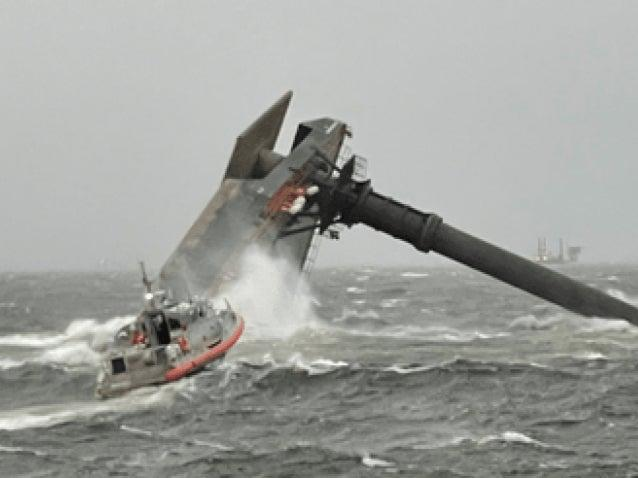 <p>A photo from the US Coast Guard showing a capsized vessel off Louisiana </p> (US Coast Guard)
