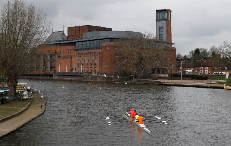 FILE PHOTO: The Royal Shakespeare Company's theatre complex is seen in Stratford-upon-Avon