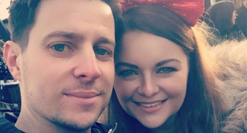 Abi Meads (right) watched her husband Matt Meads (right)