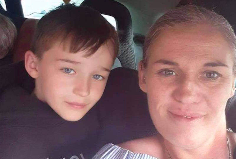 Rudi Till, left with his mother, Claire Taylor, suffered serious injuries in a hit-and-run. (Reach)