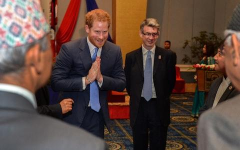 Prince Harry and Richard Morris in Nepal - Credit: Andrew Parsons