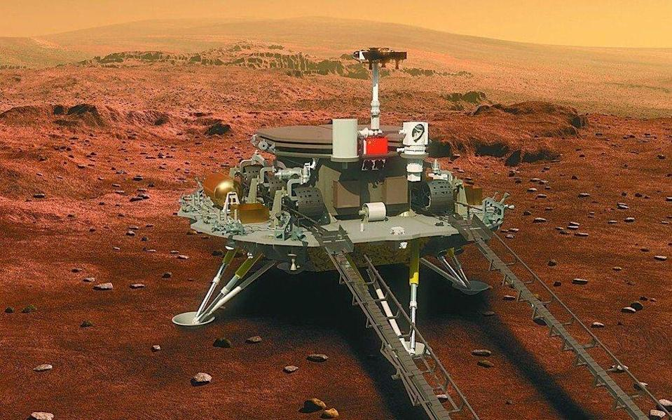 The Tianwen-1 spacecraft comprises an orbiter, a lander and a rover. Photo: Weibo