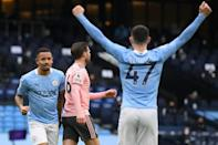 Jesus saves City: Gabriel Jesus (left) scored the only goal in Manchester City's 1-0 win over Sheffield United