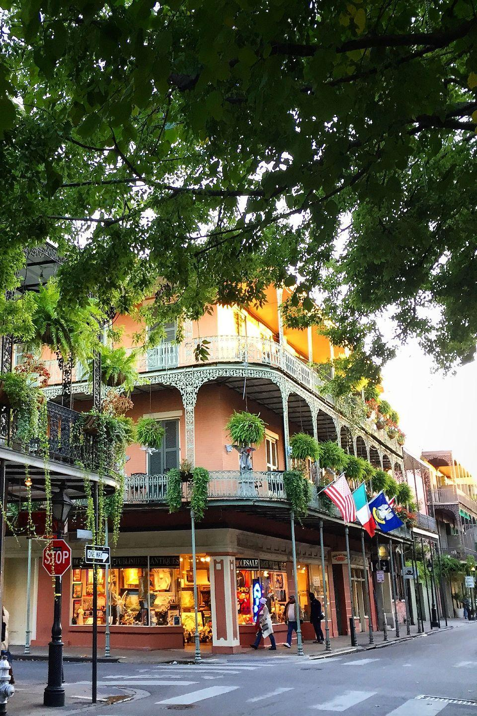 <p><strong>Where: </strong>French Quarter, New Orleans, Louisiana</p><p><strong>Why We Love It: </strong>The oldest neighborhood in New Orleans is home to some of the city's best architecture including those famous cast iron balconies and lush green courtyards.</p>