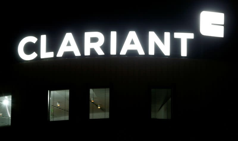 FILE PHOTO: Logo of Swiss specialty chemicals company Clariant is seen in Pratteln