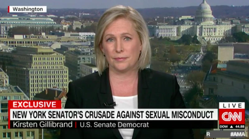 Sen. Kirsten Gillibrand Calls On Trump To Resign Over Sexual Assault Allegations