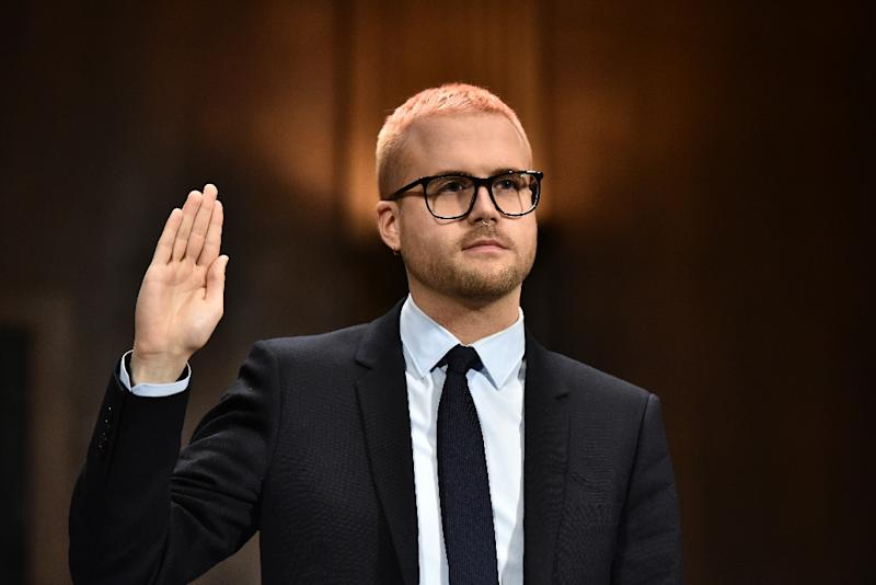 Cambridge Analytica former employee and whistleblower Christopher Wylie testified at a Senate Judiciary Committee on interference with the 2016 US election (AFP Photo/Mandel NGAN)