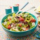 """<p>Offset the hearty Thanksgiving dishes and decadent desserts with a refreshing salad that everyone in the family will love. And, you really can't go wrong with this classic, crisp salad. </p><p><a href=""""https://www.thepioneerwoman.com/food-cooking/recipes/a10019/greek-salad/"""" rel=""""nofollow noopener"""" target=""""_blank"""" data-ylk=""""slk:Get Ree's recipe."""" class=""""link rapid-noclick-resp""""><strong>Get Ree's recipe.</strong></a></p>"""
