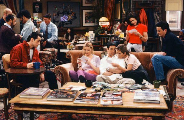 PHOTO: The cast of Friends are shown in Episode 124, 'The One Where Rachel Finds Out' (Alice S. Hall/NBC/NBCU Photo Bank via Getty Images)