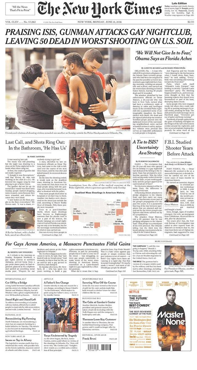 <p>The New York Times<br> Published in New York, N.Y. USA. (newseum.org) </p>