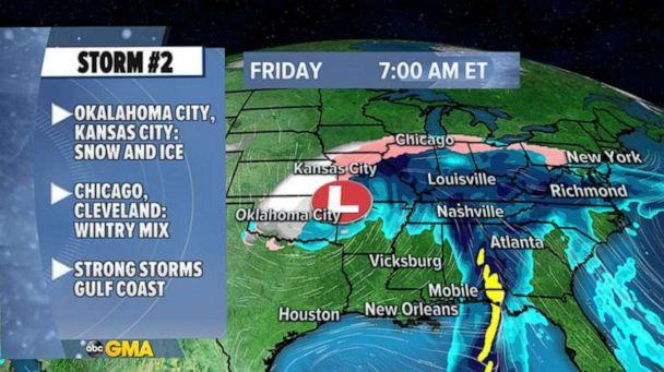 PHOTO: As we enthusiastically welcome the start of 2021, a new storm will quickly move into the South, and race toward the North and East. (ABC News)