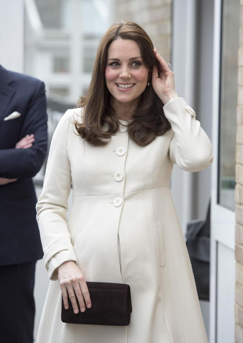 The Duchess of Cambridge's fingers all appear to be roughly the same size. Photo: Getty Images