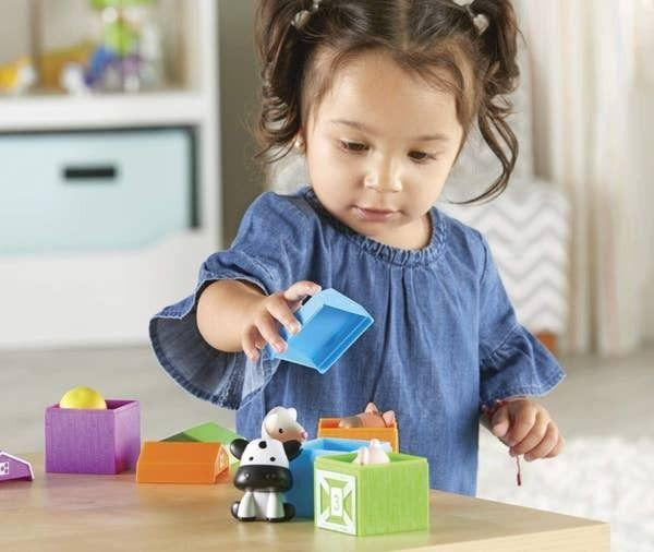 """Help little hands develop motor skills and little minds to begin to master some mathwith five barnyard finger puppets and their respective colorful barns.<br /><br /><strong>Promising review:</strong>""""This is an amazing learning tool that I highly recommend buying.<strong>I am a therapist for kids with autism. My materials get a lot of use from different kiddos, so I can attest from my experience that they are very durable and excellent quality.</strong>Many of my younger clients are barely starting to speak. This product has motivated them to make animal noises, label animals, count numbers, label colors, request for more, point at the barn they want to open, ask for help to open and close the barns, and sing along to songs with me! There are so many fun and different ways to play with them to target different goals! The animals and barns are so cute! Definitely purchase this product!"""" —<a href=""""https://amzn.to/3nbk0Qo"""" target=""""_blank"""" rel=""""noopener noreferrer"""">Katie</a><br /><strong><br />Get it from Amazon for<a href=""""https://amzn.to/3epGGIB"""" target=""""_blank"""" rel=""""noopener noreferrer"""">$13.46</a>.</strong>"""