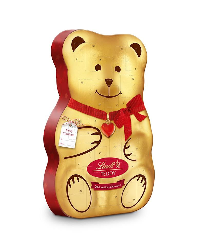 "<p>And the award for the cutest advent calendar goes to..! This year, Lindt have created the Teddy 3D Advent Calendar: 310g of LINDOR Milk chocolate truffles, creamy Snowdrops and a delightful mix of chocolate hollowfigures. Sweet!</p><p><strong><em><a class=""body-btn-link"" href=""https://www.lindt.co.uk/shop/our-brands/lindt-teddy-bear/lindt-teddy-bear-adorable-advent-house-260g-1"" target=""_blank"">SHOP NOW</a> Lindt, £15.00</em></strong></p>"