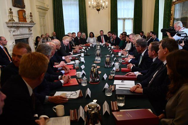 Johnson's first cabinet meeting after his reshuffle (Photo: WPA Pool via Getty Images)