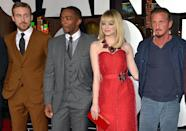 <p>Gosling and Stone reunite for this drama. Here, they pose with co-stars Anthony Mackie and Sean Penn at the premiere on Jan. 7, 2013. (Photo: Lester Cohen/WireImage) </p>