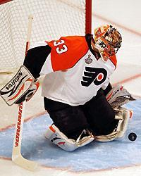 Brian Boucher figures to get the start in the Flyers' goal for Monday's Game 2